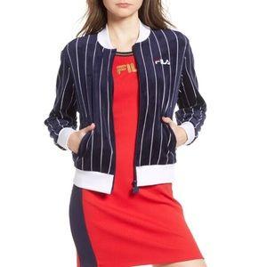 Fila Alaska Velour Striped Jacket Size S